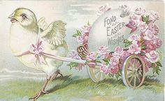 Shabby, Pink and Pretty: Vintage Easter Postcard....