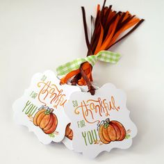 Autumn Pumpkin So Thankful For You Gift Tags - Thanksgiving Thank You Favor Tags - Set of 24 Fall Gifts, Holiday Gifts, Christmas Gifts, Christmas 2017, Christmas Carol, Holiday Ideas, Thanksgiving Favors, Thanksgiving Parties, Thanksgiving Activities
