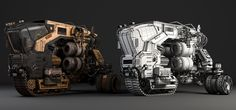 ArtStation - Josh Flores   Obsidian Vehicle Hauler, Media Arts & Animation