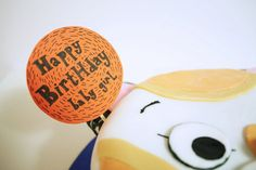 happy bday cupcake flags/toppers www.thechubbybunny.ca