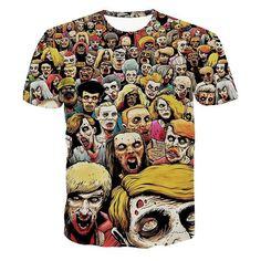Alisister 2017 New Fashion Men Skull Sweatshirt Printed Zombies Hoodies Pullover Autumn Punk Long Sleeve Shirts Clothing Tops Print T Shirts, 3d T Shirts, Casual T Shirts, Men Casual, T Shirts For Women, Printed Sweatshirts, Mens Sweatshirts, Mens Tees, Shirt Men