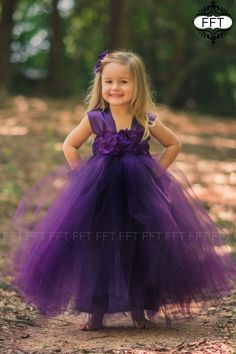 47b965dbd871 Plum Eggplant Flower Girl Tulle Dress Tutu Dress Rustic