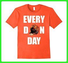 Mens Motivational EVERY DARN DAY beaver quote t-shirt (gym work)  Medium Orange - Workout shirts (*Amazon Partner-Link)