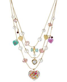 Betsey Johnson illusion necklace at Macy's