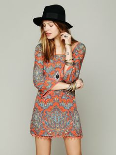 Free People Printed Square Neck Tunic, 113.15