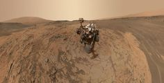 """NASA: Selfie on Mars! This self-portrait of NASA's Curiosity Mars Rover shows the vehicle at the """"Mojave"""" site, where its drill collected the mission's second taste of Mount Sharp Nasa Curiosity Rover, Curiosity Mars, Sonda Curiosity, Nasa Rover, Water On Mars, Images Wallpaper, Desktop Wallpapers, Mars Photos, Paisajes"""