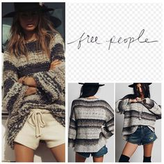 """Free People Multi Stripe Pullover Sweater.  NWT. Free People Multi Combo Stripe Pullover Slouchy Sweater, 43% acrylic, 28% cotton, 18% wool, 6% nylon, 3% mohair, 2% alpaca, washable, 26.5"""" armpit to armpit (53"""" all around), 15"""" arm inseam, 24.5"""" front length, 27.5"""" back length, side slits, a chunky blend of mohair wool, and alpaca hair shapes a slouchy pullover style with bell sleeves, high low hemline, measurements are approx.  No PayPal...No Trades... Free People Sweaters"""