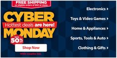 WALMART $$ Cyber Monday: Save Up to 50% off + FREE Shipping Offer! Walmart Deals, Online Deals, Free Shipping