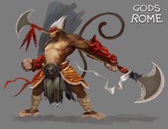 ArtStation - Gods of Rome - Event Characters - Gameloft, Alexandre Chaudret