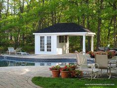edicula casa na piscina madeira com quarto-min