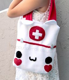 Hey, I found this really awesome Etsy listing at https://www.etsy.com/listing/152034293/nurse-cat-bag-kawaii-tote-bag-cute