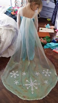 Kennedy's Frozen dress...In her messy room :) ;) hahahahaha