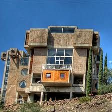Arcosanti. North Phoenix .Paolo Soleri. Arcosanti is an experimental town began in 1970 and is still being developed today in 2014.