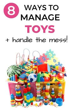 Do your kids have too many toys?  Are you tired of the toy mess?  If you need to get your kid's toys organized, check out this post.  These tips and hacks really helped me get our household toy problem under control!  There are some great toy organizing ideas for all areas of your home.  #toys #toyorganizing #toystorage #toyideas