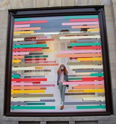 "DE BIJENKORF, Amsterdam, The Netherlands, ""Color Inside the Lines"", photo by Beekwilder B.V., pinned by Ton van der Veer"