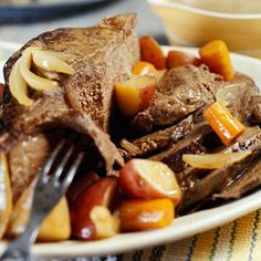 French Pot Roast ---Slow cooker pot roast is a dinner standard in many kitchens. This recipe uses bottled French salad dressing to make it even more convenient, quick, and delicious.