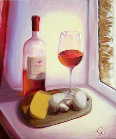 Still Life With Mushrooms. Original oil painting 60x50 cm.