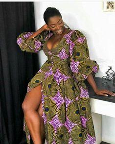 Items similar to ADOMAA maxi dress, long gown, Ankara Maxi dress, balloon sleeve on Etsy Ankara Maxi Dress, Ankara Short Gown, Ankara Gown Styles, Short Gowns, Ankara Gowns, African Fashion Ankara, African Print Dresses, African Print Fashion, African Dress