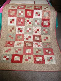 """Made from the Moda Rouenneries range, one Jelly Roll, and for border and binding. The quilt is and the pattern is """"Pandora's Box"""" from Pam Lintott's Jelly Roll Quilts book. Jelly Roll Quilt Patterns, Quilt Block Patterns, Quilt Blocks, Hexagon Quilt, Square Quilt, Strip Quilts, Easy Quilts, Amish Quilts, Quilting Projects"""