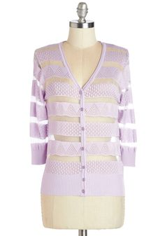 Grape Demand Cardigan. When your outfit requires an extra layer of cute, slip into this cardigan, which shines in a sweet shade of grape taffy. #purple #modcloth