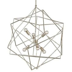 Aerial Chandelier design by Currey & Company ($1,560) ❤ liked on Polyvore featuring home, lighting, ceiling lights, chandeliers, currey company lighting and currey company chandelier