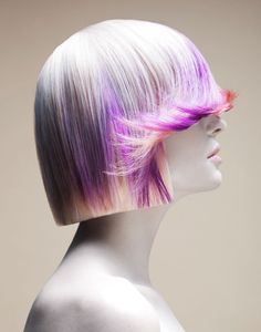 For a transformation with maximum impact try your hand at these statement spring hair color ideas. Choose the brightest neon hair color effects to bring out the most of your new look. Naha, Neon Hair, Purple Hair, Pastel Purple, Pink Color, Creative Hairstyles, Cool Hairstyles, Celebrity Hairstyles, Blonde Hairstyles