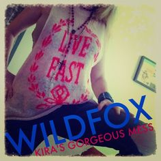 Wildfox White Label Live Fast Muscle Tank XS This 100% authentic Wildfox LIVE FAST muscle tank is amazing. You have to be the type of person who is willing to let it all hang out per se. That being said I choose to wear a bra underneath well you could wear a tank top.… But what's the fun in that? It really is a cool look for the woman who has that rock-n-roll edge and who can pull it off. God bless Wildfox  Tops Tank Tops