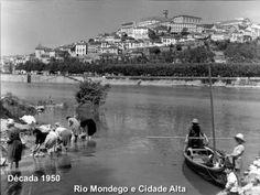Rio Mondego e Cidade Alta Década 1950. Ano 2011 Rio Mondego e Cidade Alta. 1950, Portuguese, Rio, Portugal, Times, City, Pictures