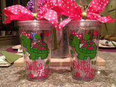 Delta Zeta Turtle Tumbler Cup by LCP2012 on Etsy, $12.00