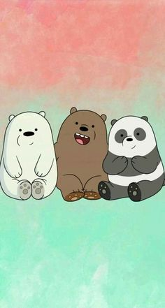 "We bear bears ""panda, grizzly, polar🐻 🐼 Cute Panda Wallpaper, Funny Iphone Wallpaper, Disney Phone Wallpaper, Bear Wallpaper, Kawaii Wallpaper, Cute Wallpaper Backgrounds, Galaxy Wallpaper, We Bare Bears Wallpapers, Panda Wallpapers"