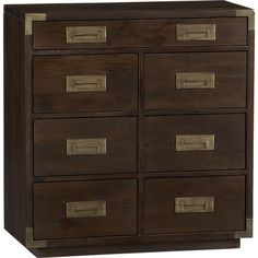 tall nightstands... 32.25 wide x 15.75 deep x 33.75 tall Palmer Chest in Sale Furniture | Crate and Barrel