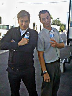 Michael Weatherly and Sean Murray of NCIS tv show