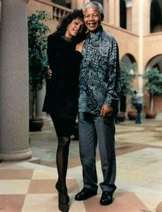 Nelson Mandela and Whitney Houston