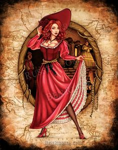 This We Wants the Redhead, Pirates of the Caribbean Inspired Print is just one of the custom, handmade pieces you'll find in our digital prints shops. Walt Disney Co, Disney Rides, Disney Magic, Disney Art, Disney Movies, Disney Theme, Disney Pixar, Pirate Art, Pirate Life