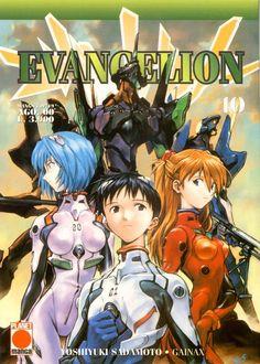#Evangelion, ambientato in un futuro catastrofico minacciato da robot giganti chiamati Angeli