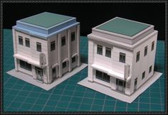 This simple Clinic building paper model is designed by Hol_nice, the scale is in 1:150 (N scale). You can build it for paper diorama or scene. Download the