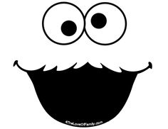 Could use these for so many things!! FREE Sesame Street Font and Face Printables from 4 The Love Of Family Elmo