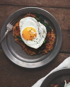 Butternut Squash Potato Pancakes with Spinach and Fried Eggs — a Better Happier St. Sebastian