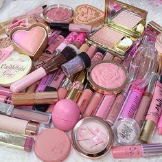 Imagen de pink, makeup, and make up Makeup Goals, Makeup Inspo, Makeup Inspiration, Makeup Tips, Pink Makeup, Cute Makeup, Hair Makeup, Makeup Haul, Doll Makeup