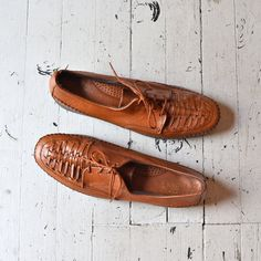 leather oxfords / lace up loafers / Basketweave Woven Oxfords