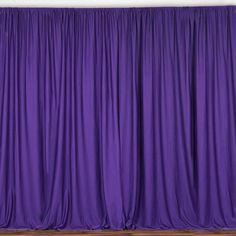"Purple taffeta backdrop drapes 57/"" wide non sheer  in any length you need."
