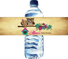 Hey, I found this really awesome Etsy listing at https://www.etsy.com/listing/122388449/owls-baby-shower-water-bottle-label
