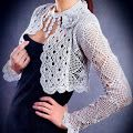 Beautiful Bolero with crystal beads           Let me suggest Pattern may be suitable for this beautiful bolero             More …