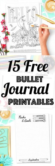 15 Free Printable Pages For Your Bullet Journal SetUp September Including Habit Tracker, September Memories, Monthly Log and many more beautiful pages. Bullet Journal Banners, Bullet Journal Page, Bullet Journal Printables, Journal Template, Bullet Journal Inspiration, Bullet Journal To Print, Journal Pages Printable, Journal Ideas, Bullet Journal Organisation