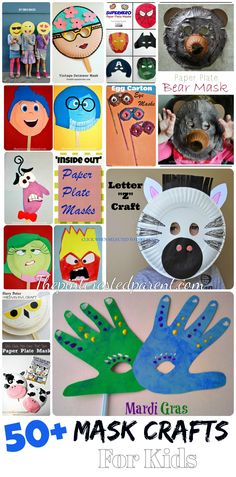 50+ Creative Mask Crafts For Kids - Perfect for Halloween Dress-up games or pretend play