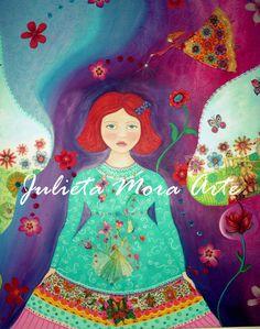 Pintura infantil de Julieta Mora