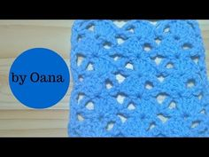Crochet asymmetrical shell stitch - YouTube