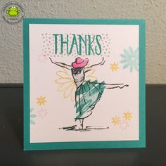 Stampin up beautiful you card flowers perfectly wrapped bermuda bay watercolor pencils