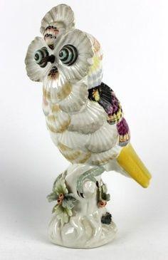 seashell owls | ... Mottahedeh Design Italy Seashell Porcelain Art Pottery Bird Owl