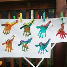Dinosaur Party - My Kids Party - A creative activity and craft idea for a dinos. - Dinosaur Party – My Kids Party – A creative activity and craft idea for a dinosaur party or fo - Kids Crafts, Toddler Crafts, Arts And Crafts, Toddler Party Ideas, Preschool Crafts, Ideas Party, Diy And Crafts, Creative Activities, Craft Activities